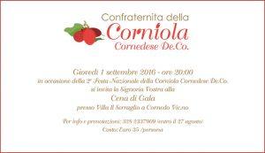 Una cena di gala aprirà le danze dell'edizione 2016 della Festa Nazionale della Corniola!