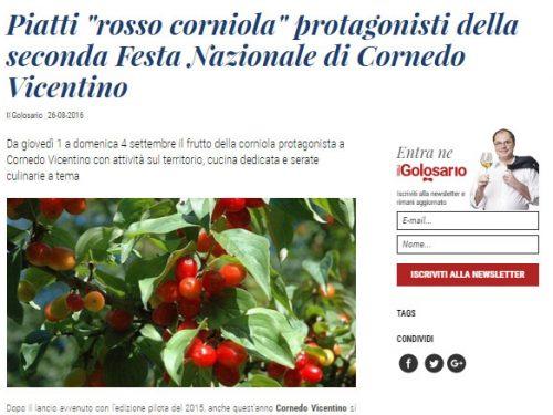 """Piatti """"rosso corniola"""" protagonisti della seconda Festa Nazionale di Cornedo Vicentino – Ilgolosario.it"""